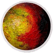 Round Beach Towel featuring the painting Sunspots by Fred Wilson