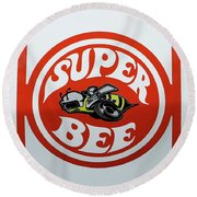 Round Beach Towel featuring the photograph Super Bee Emblem by Mike McGlothlen