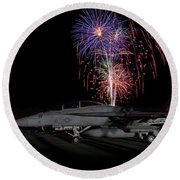 Super Hornet Celebration Round Beach Towel