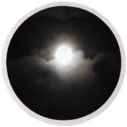 Super Moon 1 Round Beach Towel