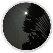 Super Moon 1 Round Beach Towel by Karen Nicholson