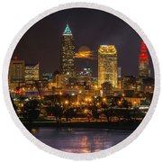 Super Moon 2016 Over Cleveland Round Beach Towel