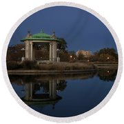 Round Beach Towel featuring the photograph Super Moon by Andrea Silies