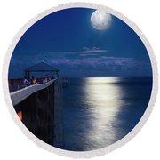 Super Moon At Juno Round Beach Towel