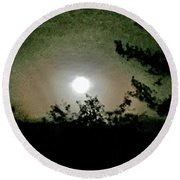 Super Moon Aura Round Beach Towel