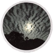 Super Moon Round Beach Towel by Irma BACKELANT GALLERIES
