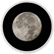Super Moon November 2016 Round Beach Towel