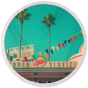 Super Service Round Beach Towel by Jerry Golab