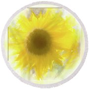 Super Soft Sunflower Round Beach Towel