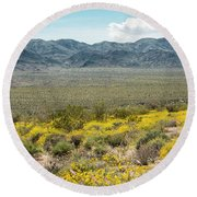 Superbloom Paradise Round Beach Towel by Amyn Nasser