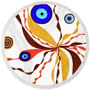 Superficial Round Beach Towel