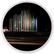 Superior Circle Art - Fort Wayne Indiana Round Beach Towel