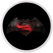 Superman Vs Batman Round Beach Towel
