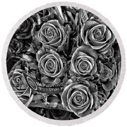 Supermarket Roses Round Beach Towel