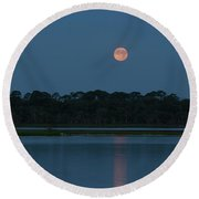 Supermoon Dawn 2013 #2 Round Beach Towel