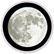 Supermoon  Round Beach Towel