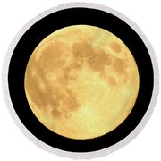 Supermoon Full Moon Round Beach Towel by Kyle West