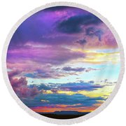 Supernatural Sky - Colorado Round Beach Towel