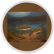 Supper Time Round Beach Towel by Sheri Keith