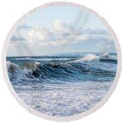 Surf And Sky Round Beach Towel