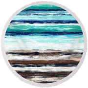 Surf And Turf Round Beach Towel