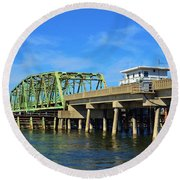 Surf City Bridge - 1 Round Beach Towel