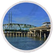 Surf City Bridge - 2 Round Beach Towel