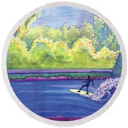 Surf Colorado Round Beach Towel