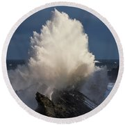 Surf Eruption Round Beach Towel