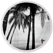 Surf Mates 2 Round Beach Towel