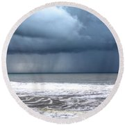 Surf Sun And Rain 2 Round Beach Towel