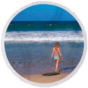 Surf Up Round Beach Towel
