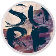 Surf V1 Round Beach Towel