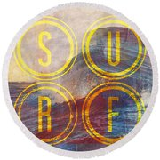 Surf V2 Round Beach Towel by Brandi Fitzgerald