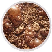 Round Beach Towel featuring the photograph Surface Chocolatee - Vertical by Marc Philippe Joly