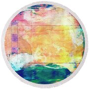 Round Beach Towel featuring the painting Surface Vector by Dominic Piperata