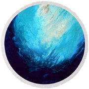 Swimming To The Surface Round Beach Towel