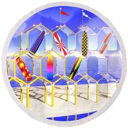 Surfboard Palace Round Beach Towel
