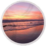 Surfer Afterglow Round Beach Towel