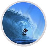 Round Beach Towel featuring the photograph Surfer Boy by Movie Poster Prints