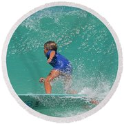 Surfer Boy Round Beach Towel by  Newwwman