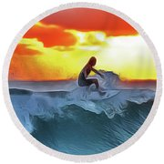 Surferking Round Beach Towel
