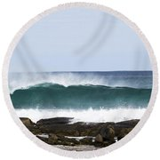 Round Beach Towel featuring the photograph Surfers Point by Angela DeFrias