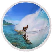 Surfing Dan Round Beach Towel