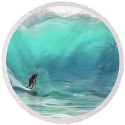 Surfing Round Beach Towel