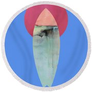 Surfing Print Round Beach Towel