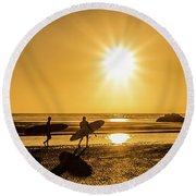 Surfing Safari Round Beach Towel