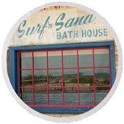 Surf'n Sand Bath House  Round Beach Towel
