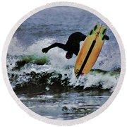 Surfs Up Round Beach Towel