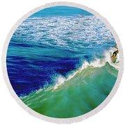 Surfs Up Daytona Beach Round Beach Towel